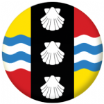 Bedfordshire Flag 25mm Button Badge